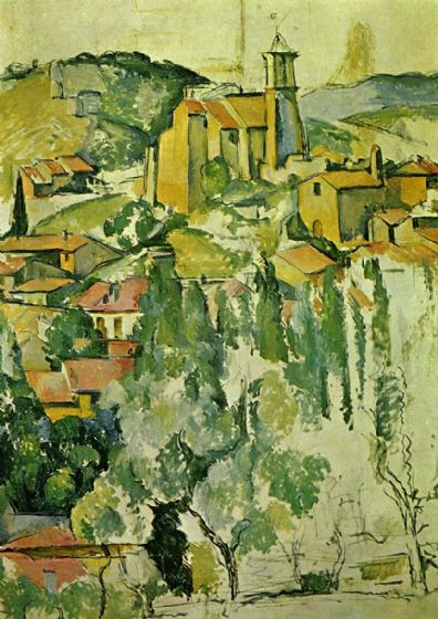Cezanne, Paul: The Village of Gardanne. Landscape Fine Art Print/Poster. Sizes: A4/A3/A2/A1 (001024)